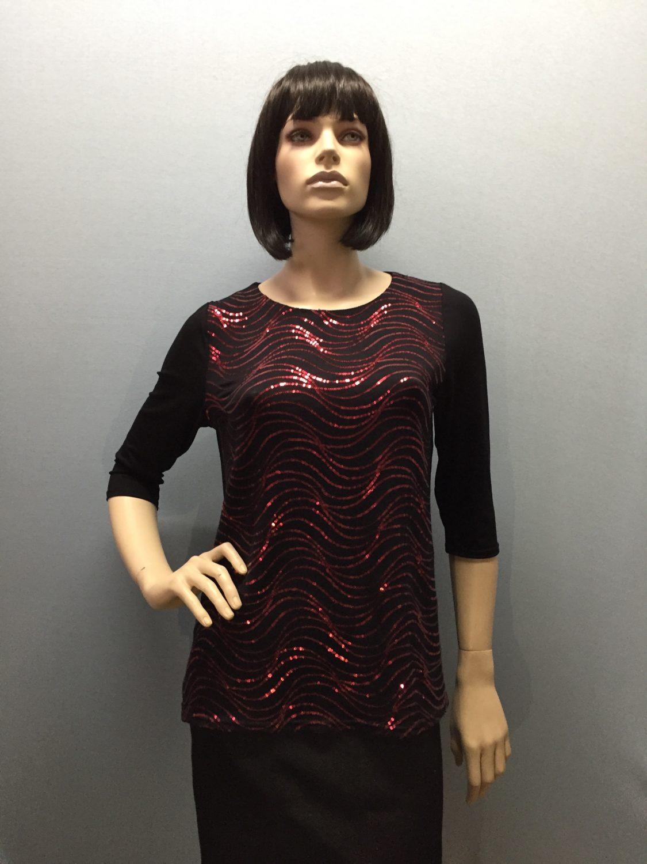Фото блузка, состав вискоза и пайетки, размеры 46-54, артикул 191-3