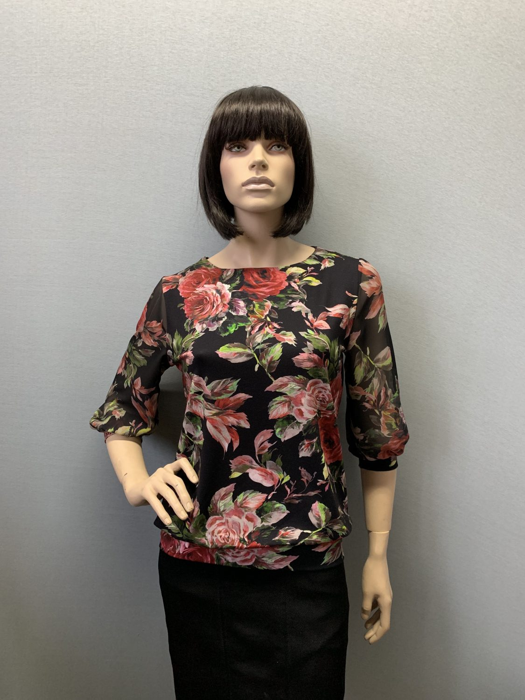 Фото блузка, состав вискоза и шифон, размеры 46-54, артикул 205.1-1