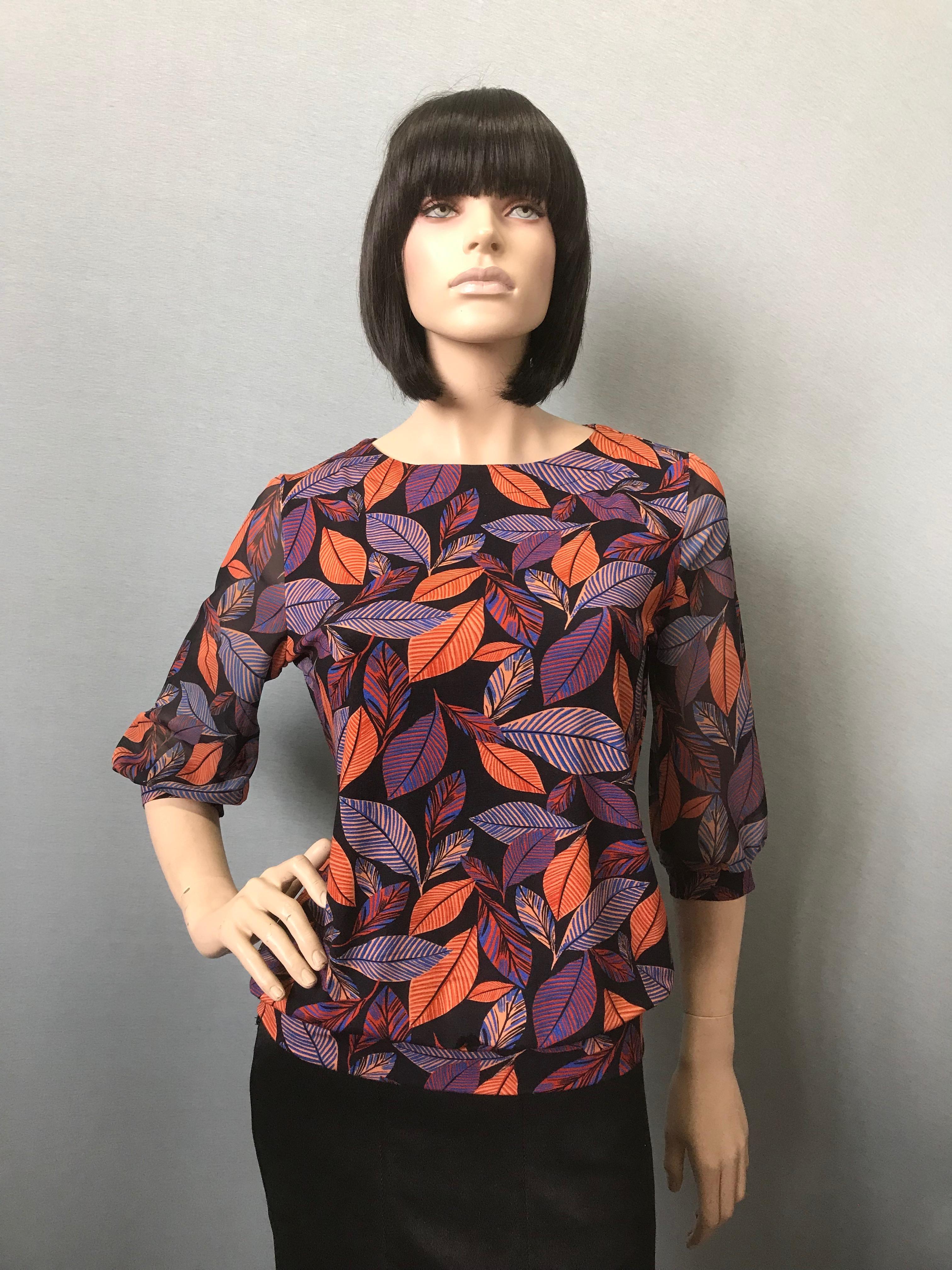 Фото блузка, состав вискоза и шифон, размеры 46-54, артикул 205.1-7