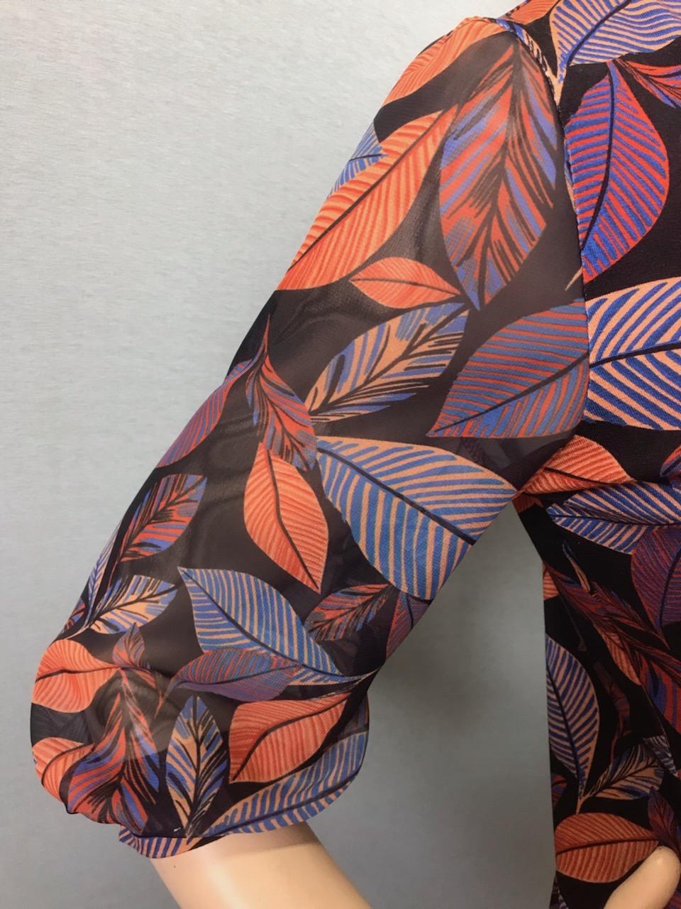 Фото блузка, состав вискоза и шифон, размеры 46-54, артикул 205.1-7h