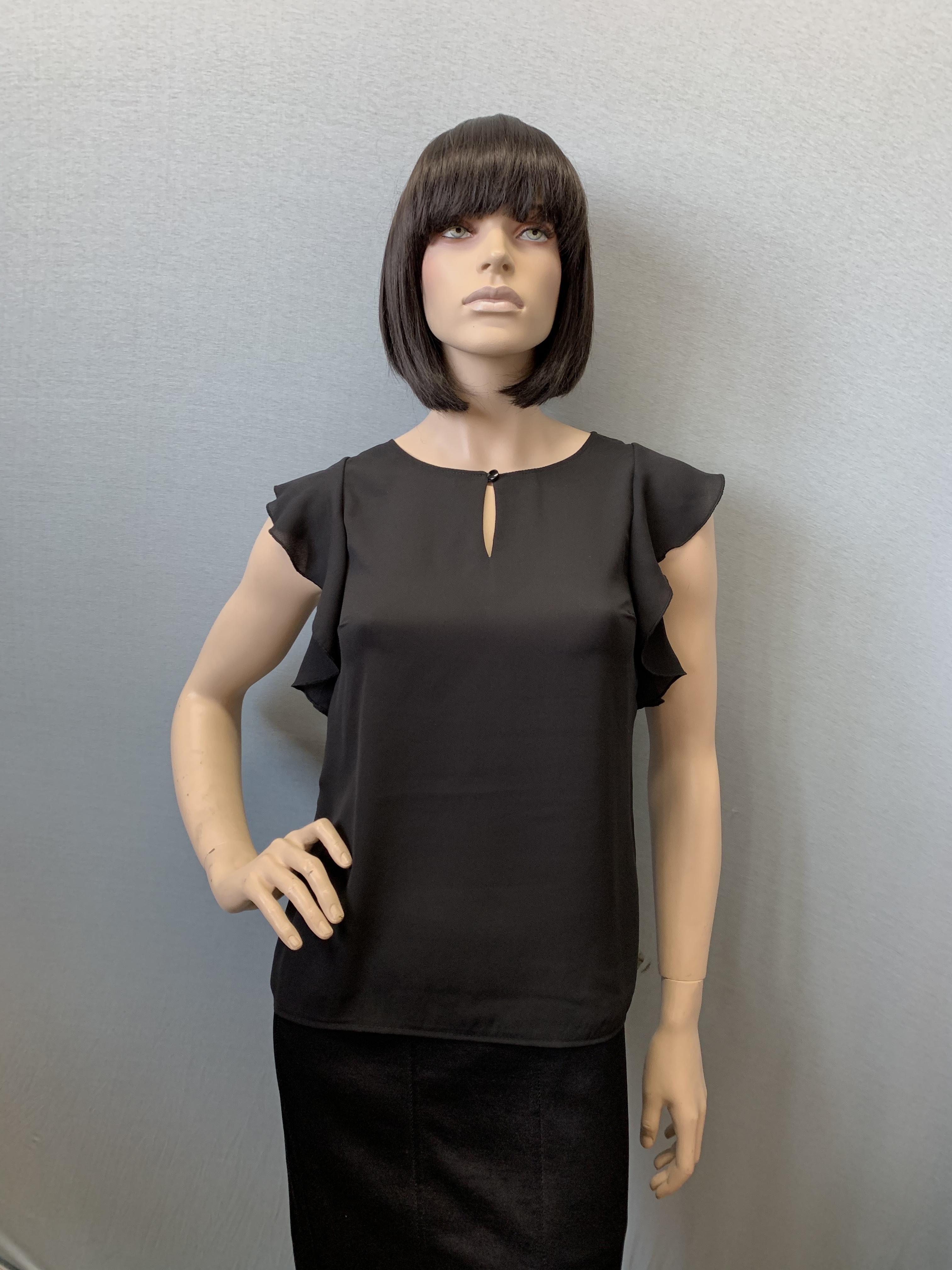 Фото блузка, состав шифон, размеры 44-52, артикул 311-1_black