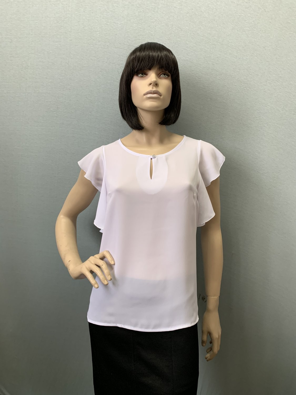 Фото блузка, состав шифон, размеры 44-52, артикул 311-1_white