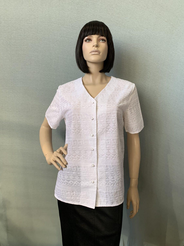 Фото блуза из шитья, состав 100% хлопок, размеры 52-58, артикул 2204