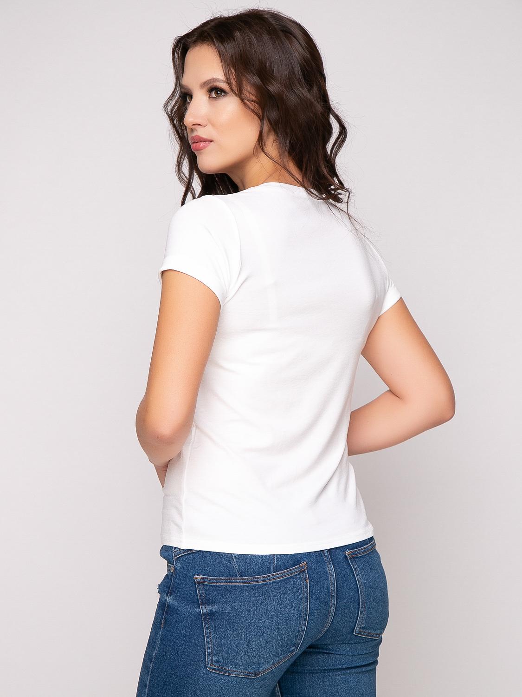 Фото футболка, состав вискоза, цвет белый, артикул 570-5