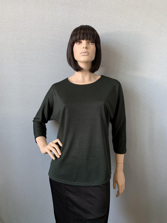 Фото блуза, состав вискоза 70%, полиэстер 25%, 5% эластан, размеры 52-58, артикул 28-2