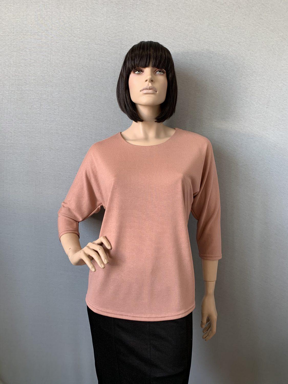 Фото блуза, состав вискоза 70%, полиэстер 25%, 5% эластан, размеры 52-58, артикул 28-3