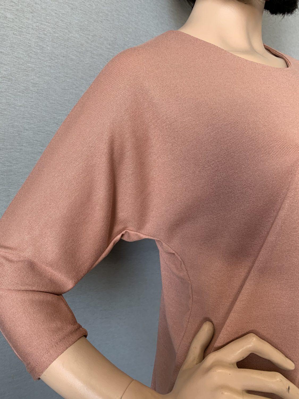 Фото блуза, состав вискоза 70%, полиэстер 25%, 5% эластан, размеры 52-58, артикул 28-3-h