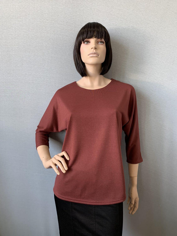 Фото блуза, состав вискоза 70%, полиэстер 25%, 5% эластан, размеры 52-58, артикул 28-4