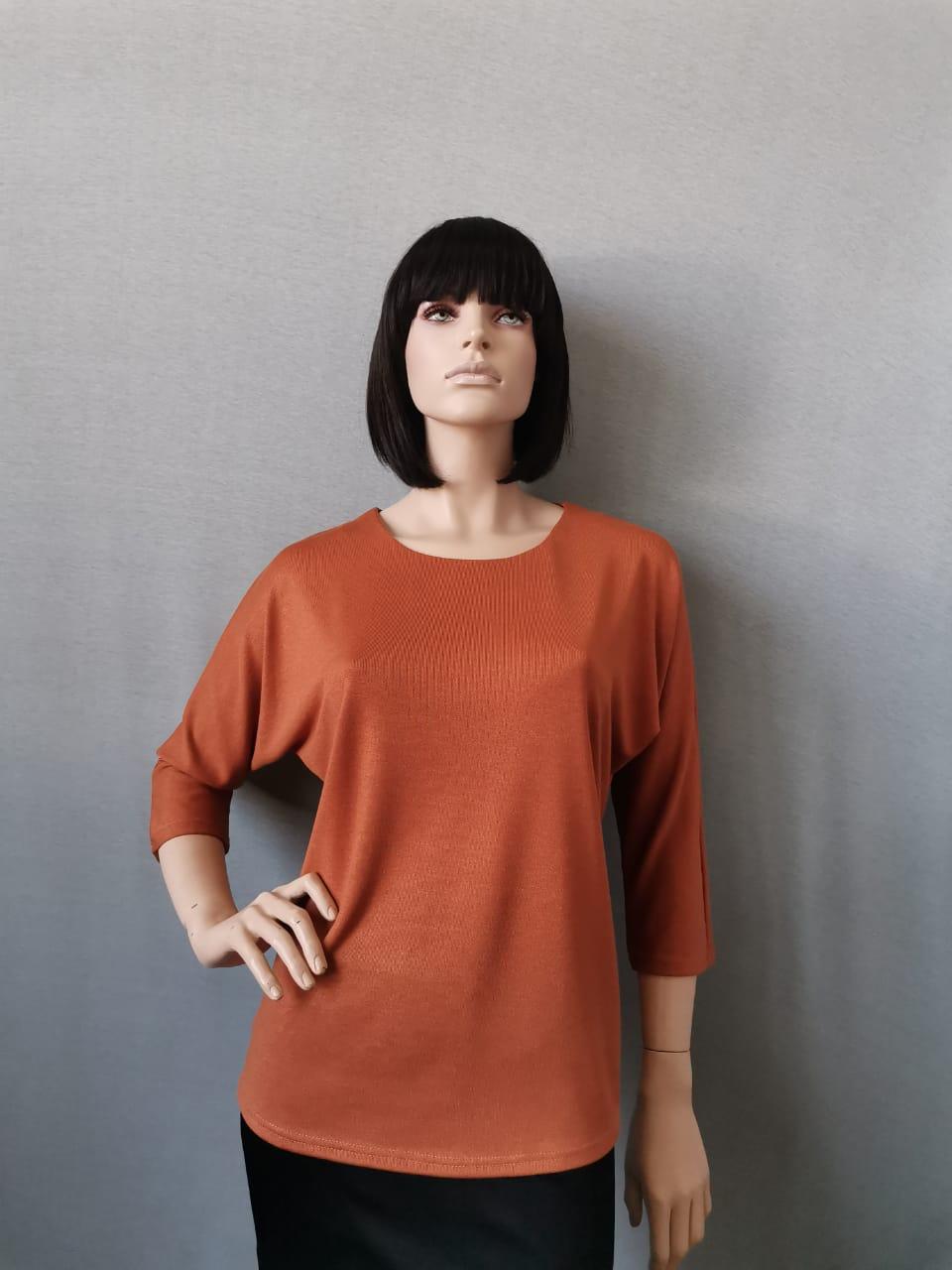 Фото блуза, состав вискоза 70%, полиэстер 25%, 5% эластан, размеры 52-58, артикул 28-5