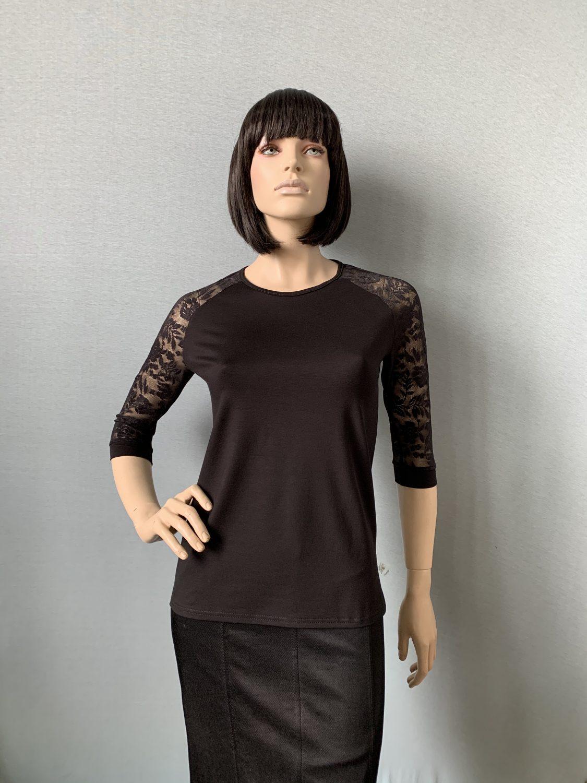 Фото блузка, состав вискоза, гипюр, размеры 44-54, артикул 400-1