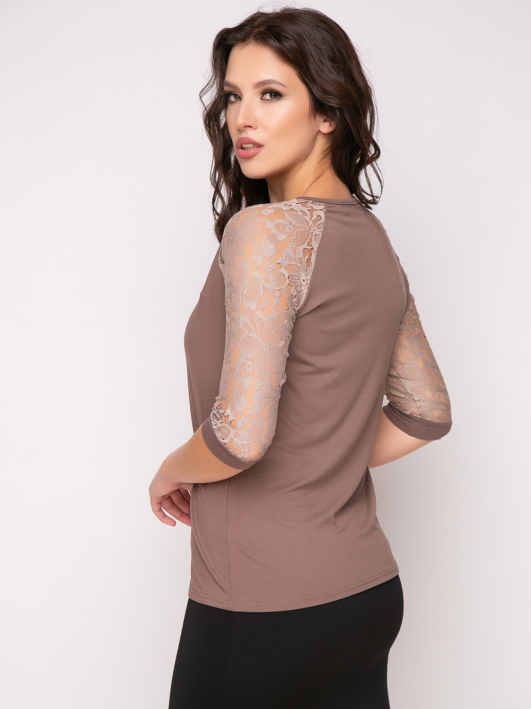 Фото блузка, состав вискоза, кружево, размеры 44-54, артикул 400-3