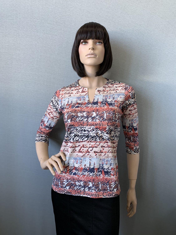 Фото блузка, состав вискоза, размеры 46-54, артикул 201-124