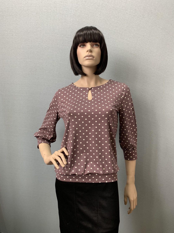 Фото блузка, состав вискоза 92%, 8% эластан, размеры 46-54, артикул 206-57
