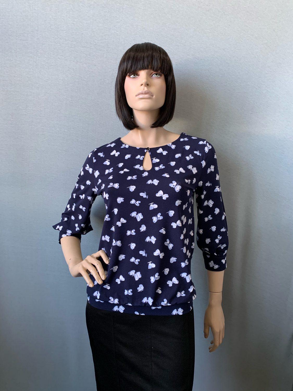 Фото блузка, состав вискоза 92%, 8% эластан, размеры 46-54, артикул 206-58