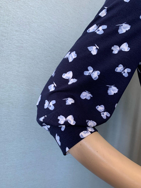 Фото блузка, состав вискоза 92%, 8% эластан, размеры 46-54, артикул 206-58-h