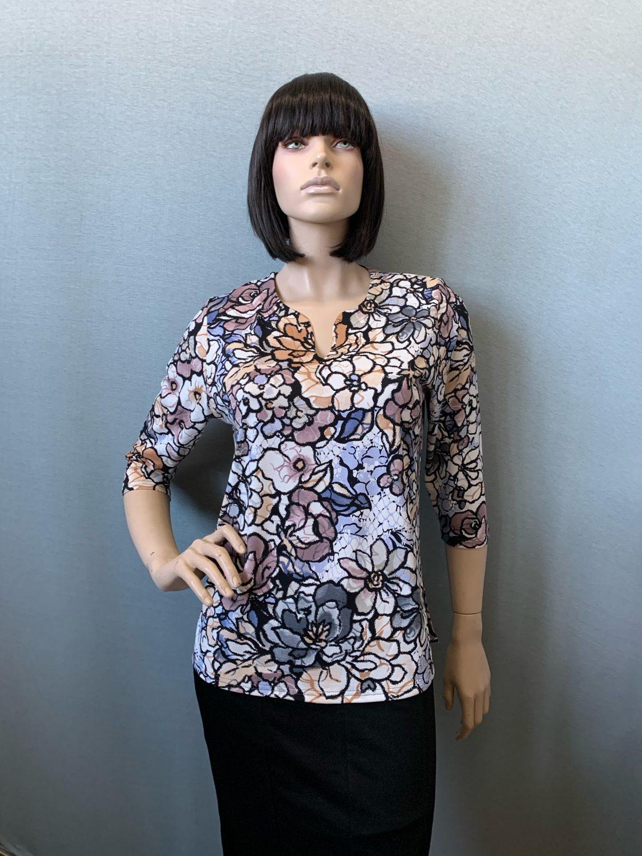 Фото блузка, состав состав вискоза 92%, 8% эластан, размеры 50-58, артикул 125-1