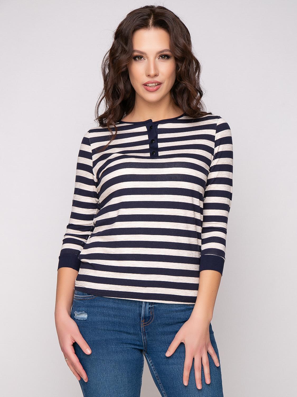 Фото блузка, состав 92% вискоза , 8% эластан, рукав: втачной ,3/4, с манжетой, размеры 46-54, артикул 690-1