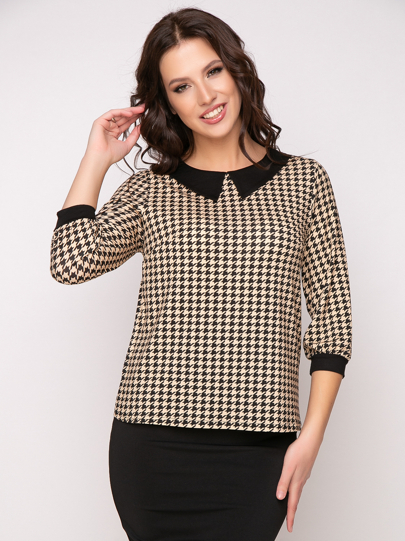Фото блузка, состав 92% вискоза , 8% эластан, рукав: р-р 48-56, рукав: втачной с манжетой, выточки на груди, размеры 46-54, артикул 680-1